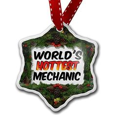 Christmas Ornament Worlds hottest Mechanic - Neonblond -- Click image to review more details. (This is an affiliate link) #Ornaments