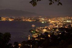 Puerto Vallarta, Mexico at night from the Conchas Chinas hillside.