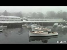 Perkins Cove, Ogunquit, Maine Covered in Ice and Fog - YouTube