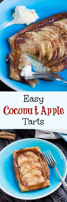 Easy Coconut Apple Tarts.  Simple to prepare in advance & great for entertaining.