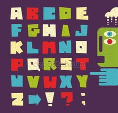Litery alfabetu w stylu retro — Wektor stockowy #30264915