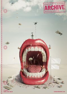 "Colgate ""Mouth"", the cover for Lürzer's Archive Vol.3/2014 from Y&R/Red Fuse, New York. Digital wizardry by Chilean illustrator Ricardo Salamanca.  ""A very original, striking and wonderfully executed ad campaign that manages to integrate the product in a relevant matter and happens to provide us with a cover quite unlike any we've had in many years,"" says Editor-in-Chief Michael Weinzettl.   #advertising #colgate #y&r #lurzersarchive"