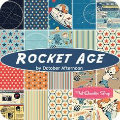 "Rocket Age 10"" Stacker October Afternoon for Riley Blake Designs--for Camden Quilt"