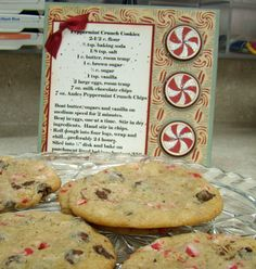 Peppermint Crunch Cookie recipe and Playful Peppermint digi!