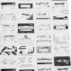 Cassette wallpaper?!  Nice!  I would probably end up coloring it