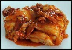 Sauté de poulet au chorizo et sauce tomate - Lotta Ell Asian Fish Recipes, Tilapia Fish Recipes, Recipes With Fish Sauce, White Fish Recipes, Easy Fish Recipes, Light Recipes, Healthy Egg Recipes, Whole30 Fish Recipes, Meat Recipes