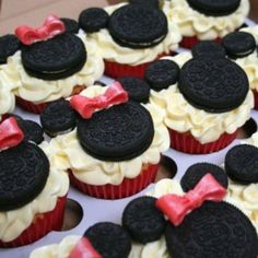 Minnie and Mickey Cupcakes