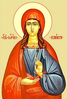Saint Iraida (Rhais) of Alexandria once went to the seashore to draw water from a well. There she encountered a ship of Christians imprisoned for confessing the Faith. She left everything and joined them. The ship arrived in Antipolis, Egypt. Saint Iraida was the first to undergo fierce torture. She was beheaded. (Sept 23)