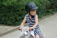 Many children have the desire to ride on a real horse. The Horse of My Little Horse can fulfill this desire. The animal is a horse riding toy horse that is characterized by a soft plush body, a robust Stahlramen and an innovative drive system. The materials used are of high quality. Ride On Toys, Horse Riding, Riding Helmets, Plush, Horses, Children, Pictures, Animals, Young Children