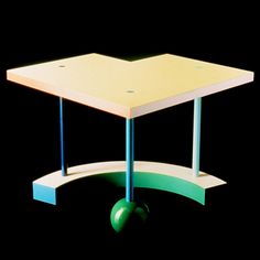 Hollywood 1983 for Memphis by Peter Shire Peter Shire, 80s Design, Memphis Design, Design Research, Postmodernism, Bauhaus, Art And Architecture, Drafting Desk, Furnitures