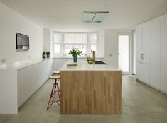 When creating a contemporary open plan extension, it is important to find a delicate balance between incorporating practical, high performance features and creating a liveable multi-function environment that seamlessly blends from one zone to the next Contemporary Open Plan Kitchens, Contemporary Kitchen Design, Kitchen Trends, Muted Colors, Living Area, Design Inspiration, Colour Palettes, How To Plan, Interior