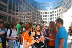 Ministry of the Interior, Berlin: the language diversity team distributes information material about the benefits of multilingualism and the diversity of the european languages
