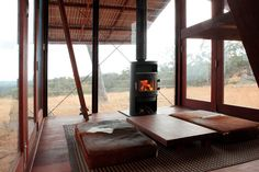 'mudgee permanent camping' dwelling by casey brown architecture