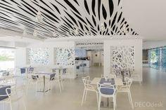 Ideas de #Restaurante, estilo #Vanguardista color  #Azul,  #Blanco,  #Negro, diseñado por German Costa Garcia  #CajonDeIdeas