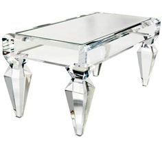 1stdibs craig vandenbrulee lucite mirror top coffee table.  Why do I not have a table like this?