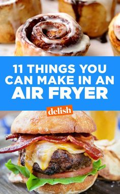From mains to sides to desserts and snacks, we rounded up the best air fryer recipes. They've got all the crisp, and none of the oil so you can live your healthiest life with fried food. Air Fryer Recipes Wings, Air Fryer Recipes Appetizers, Air Fryer Recipes Vegetarian, Air Fryer Recipes Vegetables, Air Fryer Recipes Snacks, Air Fryer Recipes Low Carb, Air Frier Recipes, Air Fryer Recipes Breakfast, Air Fryer Dinner Recipes