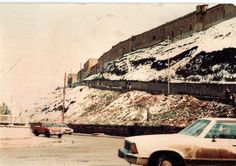 Erbil's citadel covered in snow - a photo from the 1980s.