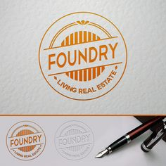 This is the Creative Hat Logo Design Concept for Foundry Real Estate