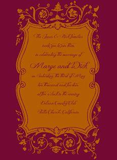 scarlet and tangerine rustic wedding invitations $164/100