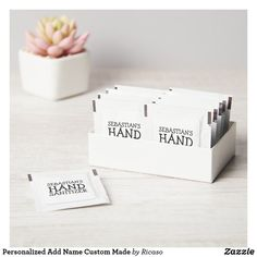 Personalized Add Name Custom Made Hand Sanitizer Packet Personalized Products, Customized Gifts, Catering Companies, Active Ingredient, Hand Sanitizer, Design Your Own, Custom Made, Create Your Own, Place Card Holders
