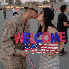 Welcome Home Sign Military
