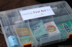 Herbal Travel First Aid Kit