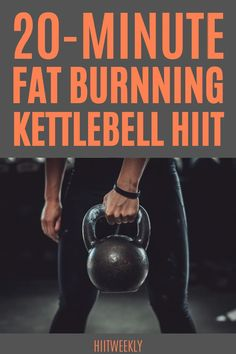 20 minute kettlebell workout to lose belly fat fast at home. Kettlebell Workouts For Women, Hiit Workouts With Weights, Kettlebell Hiit, Weights Workout For Women, Circuit Training Workouts, Great Ab Workouts, Full Body Hiit Workout, Hitt Workout, Fat Burning Workout