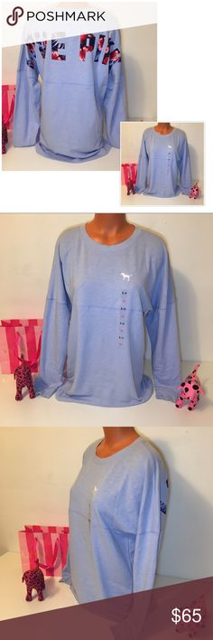 NEW PINK VS VARSITY FLORAL LOGO SWEATSHIRT PINK VICTORIA'S SECRET  FLORAL VARSITY CREWNECK SWEATSHIRT (LOVE PINK FLORAL PRINT IN THE BACK), TUNIC LENGTH. GORGEOUS PIECE!!!   COLOR LAVENDER  SIZE S (OVERSIZED) FASTSHIPPING!!!  Check out my other items! I am sure you will find something that you will love it! Thank you for watch!!!!! Be sure to add me to your favorites list! PINK Victoria's Secret Tops Sweatshirts & Hoodies