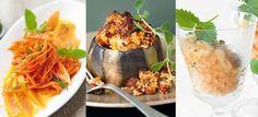 Rezepte für ein veganes Menü mit Aubergine