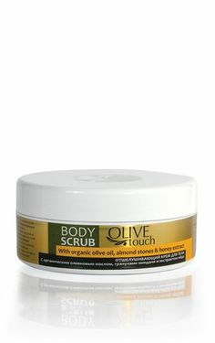 Body scrub with olive Almond stones, organic Olive oil and Honey extract removes dead cells , regenerating, smoothing the skin, leaving it with velvet touch. With oils extracts of biological cultivation. Cream Nails, Body Lotions, Feet Care, Vaseline, Body Scrub, Olive Oil, Scrubs, Beauty Products, Almond