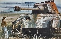 A abandoned King Tiger in Hungary late 1945.