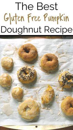 Gluten Free Donuts, Gluten Free Snacks, Gluten Free Breakfasts, Gluten Free Pumpkin, Foods With Gluten, Gluten Free Recipes, Vegan Recipes, Pumpkin Doughnut Recipe, Pumpkin Pie Spice