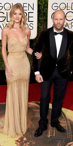 Odd together, not very natural looking. Golden Globe Awards 2016: Arrivals : People.com