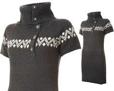 Smart og casual strikkjole til kølige efterårsdage. Perfekt til jeans, leggings eller lange støvler