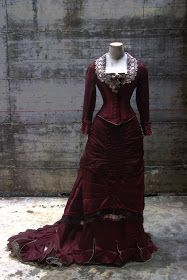 """ANTIcostume: 1875 RECEPTION DRESS (""""The age of the innocence"""" inspiration)"""