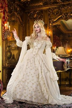 Medieval Wedding Gowns, Marie Antoinette Gowns, Gothic Wedding Gowns at RomanticThreads Medieval Wedding, Gothic Wedding, Geek Wedding, Sleeping Beauty Princess, Sleeping Beauty Cosplay, Fantasy Princess, Medieval Princess, Fantasy Gowns, Hoop Skirt