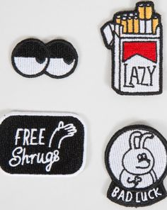 Lazy Oaf Bad Luck Patch Pack - Summer 2016 - Seasons - Womens