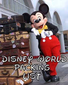 Disney World Packing List for families