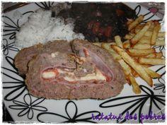 ratatui dos pobres: Rolo de carne recheado com charcutaria