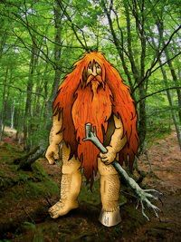 "Basque mythology, the basajaun were an ancient human race of stout, hairy wild men who were megalith builders. Basajaun means ""Lord of the Woods"""