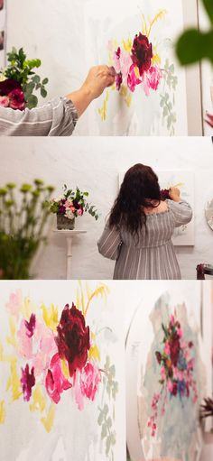 Heidi Shedlock paints flowers in oil paint from a real bouquet in her studio. South African Artists, Floral Paintings, Bouquet, Oil, Studio, Flowers, Bouquets, Royal Icing Flowers, Floral Arrangements