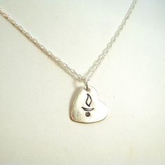 UU Chalice Heart Necklace - Handmade in Sterling Silver. $32.00, via Etsy.