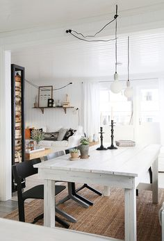 Beautiful black with grey/white interior styling. #Interior #Design