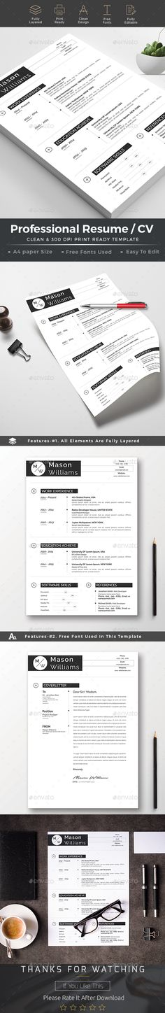 Clean Resume and Cover Letter - resume paper size