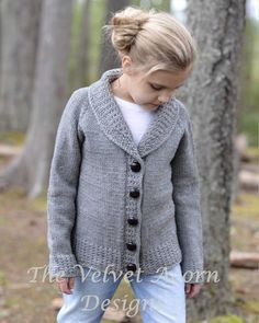 Watsyn Cardigan Knitting pattern by The Velvet Acorn, a beautiful sweater pattern for children! Find this pattern at LoveKnitting. Kids Knitting Patterns, Knitting For Kids, Baby Knitting, Velvet Acorn, Knit Cardigan Pattern, Baby Kind, Vintage Knitting, Kind Mode, Yarn Brands