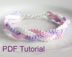 PDF Tutorial Braided Square Knot Macrame Bracelet Pattern, Bracelet Tutorial, DIY Knotted Friendship Bracelet Source by carftgirl Macrame Bracelet Patterns, Macrame Bracelet Tutorial, Macrame Patterns, Friendship Bracelet Patterns, Macrame Jewelry, Friendship Knot, Diy Friendship Bracelets, Micro Macrame Tutorial, Macrame Bag