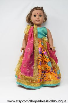 A personal favorite from my Etsy shop https://www.etsy.com/listing/562255038/american-girl-doll-princess-outfit