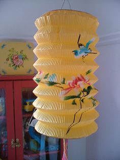vintage paper lantern-love these...have pink and blue