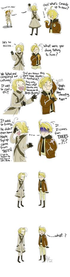 Truth about Maple Syrup -APH by KittyMira.deviantart.com on @deviantART - dude, even I know maple syrup comes from trees