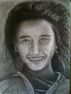 a typical nepali  girl :) - Sketching by Rwaaz Maharjan at touchtalent 71134